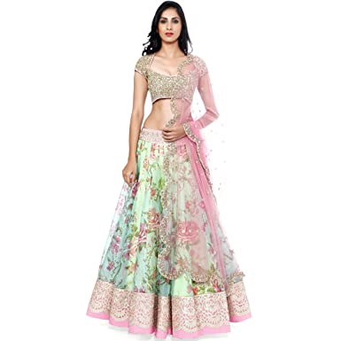 55918cc427 Exclusive New Indian Pakistani Traditional Ethnic Women Designer Floral Lehenga  Choli