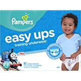 Pampers Easy Ups Training Pants Pull On Disposable Diapers for Boys Size 4 (2T-3T), 80 Count, SUPER