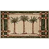 Bacova Oasis Palm Tree Trio Berber Rug One Size