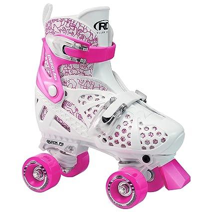 Roller Trac Start Girls - Patines de 4 ruedas para niño (talla regulable) multicolor