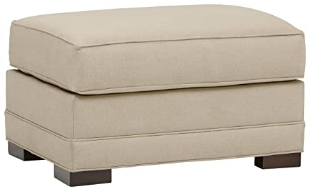Stone Beam Dalton Performance Fabric Ottoman, 33 W, Sand