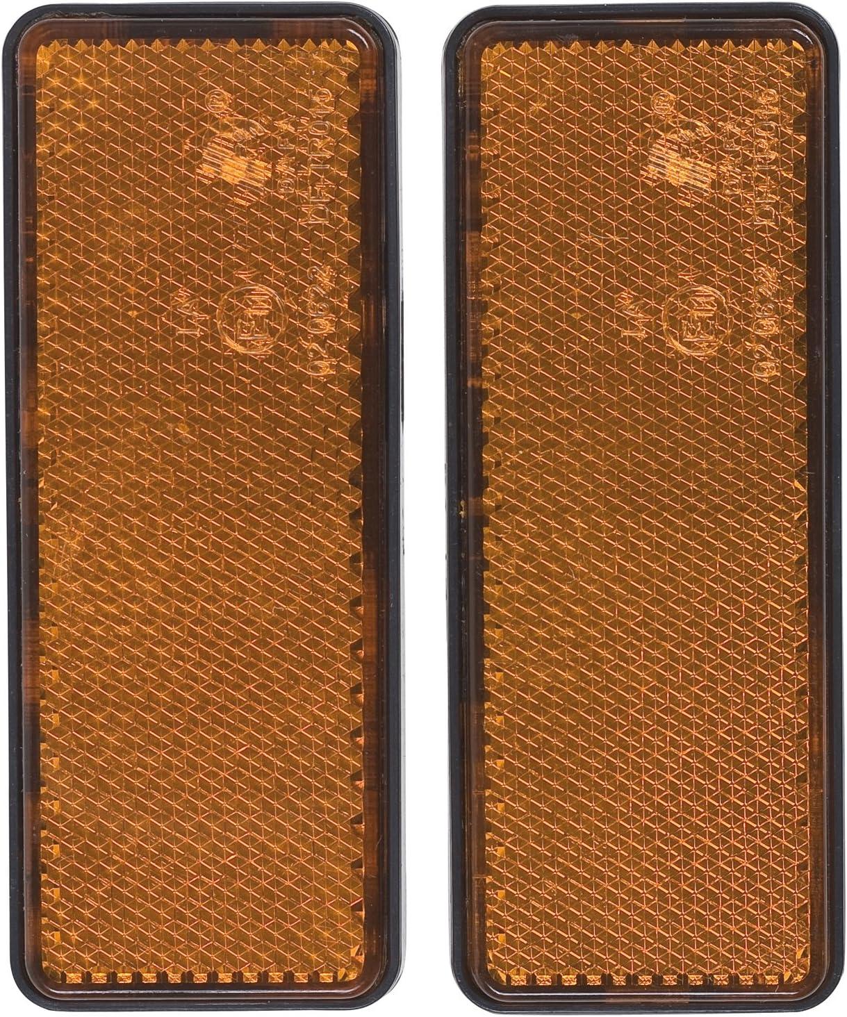 rund 2 St/ück Cartrend 80136 R/ückstrahler gelb