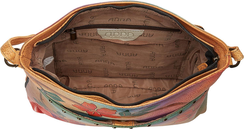 Hand-Painted Original Artwork Anna by Anuschka/Womens Genuine Leather Crossbody Organizer