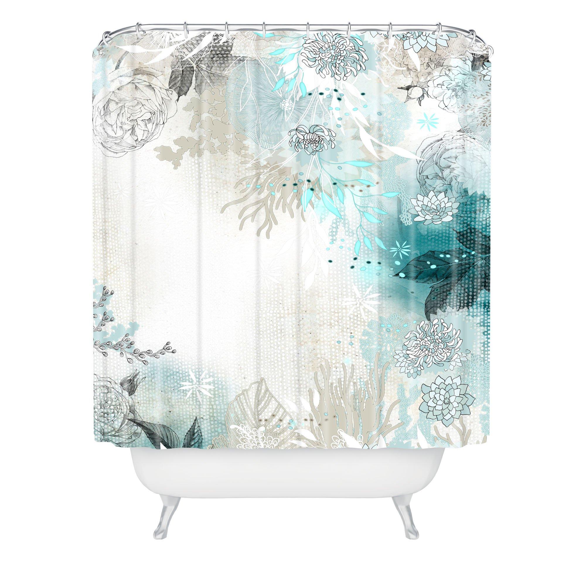 Deny Designs Iveta Abolina Seafoam Shower Curtain, 69'' x 72''