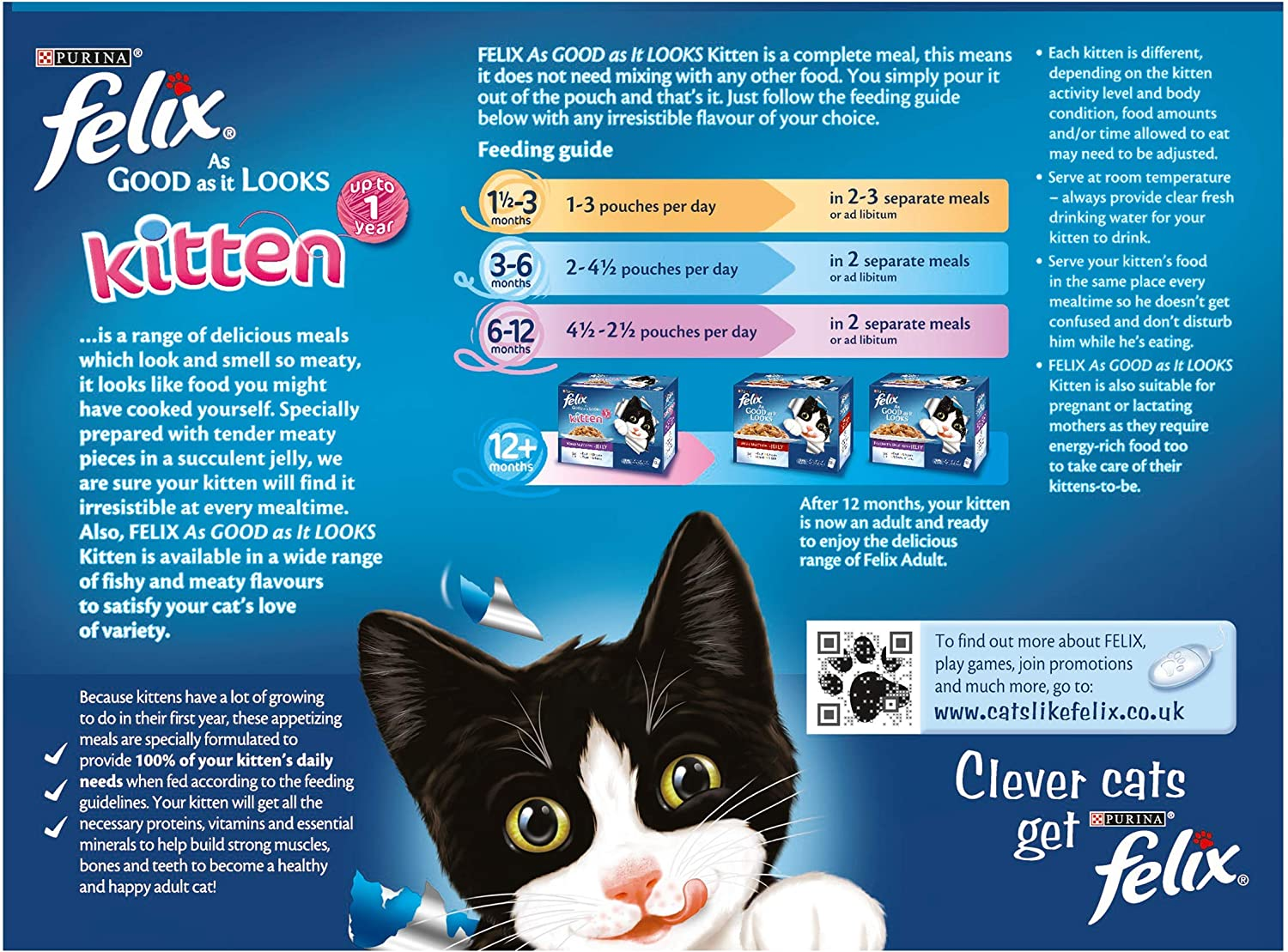 Felix Kitten As Good As It Looks Cat Pouches Mixed In Jelly 100g 48 Pouches Amazon Co Uk Pet Supplies