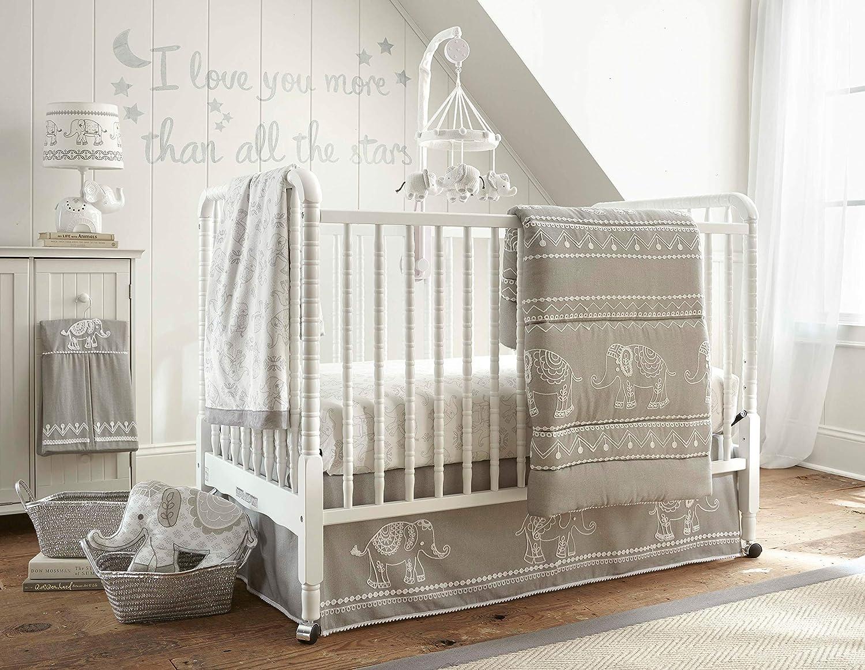 Levtex Baby Baby Elyグレー5ピースベビーベッド寝具セット   B077L145M5