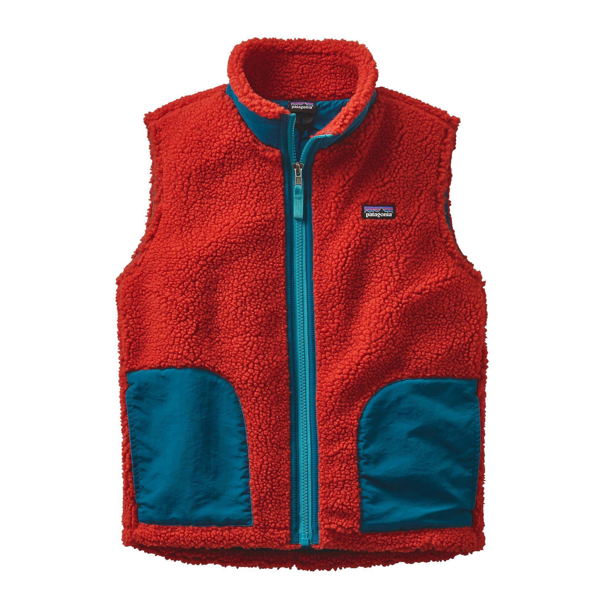 Patagonia Boys' Retro-X Vest Ramble Red L by Patagonia