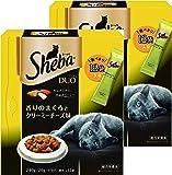 シーバ (Sheba) デュオ 成猫用 香りのまぐろとクリーミーチーズ味 240g(20g×12袋入り)×2個セット [キャットフード・ドライ]