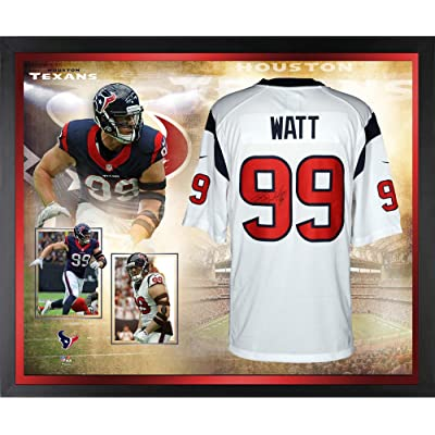 6fd997a2a J.J. Watt Houston Texans Framed Autographed White Nike Limited Jersey  Collage - Fanatics Authentic Certified