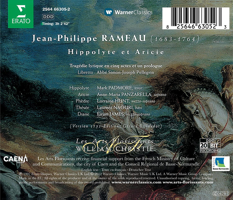 Rameau: Hippolyte et Aricie: Mark Padmore, Anna Maria Panzarella:  Amazon.it: Musica