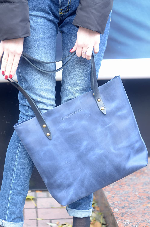 39acfa94a9e Amazon.com  bags purses totes navy blue leather tote deep blue leather tote  worn blue bag vintage leather bag shabby leather tote blue leather handbag   ...