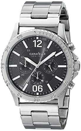 1dc506079 Image Unavailable. Image not available for. Color: Caravelle New York Men's  43A115 Stainless Steel Watch
