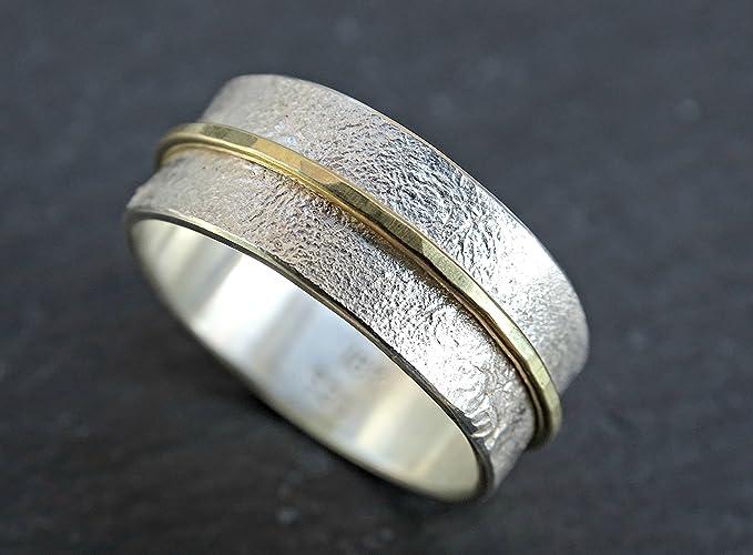 Amazon Com Unique Wedding Band Gold Silver Silver Wedding