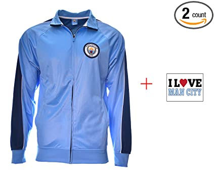 low priced abe06 dc562 Amazon.com: Icon Sport Manchester City Jacket Navy Black ...