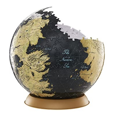4D Cityscape Game of Thrones (GoT) 3D Westeros and Essos Globe Puzzle, 9-inch: Toys & Games