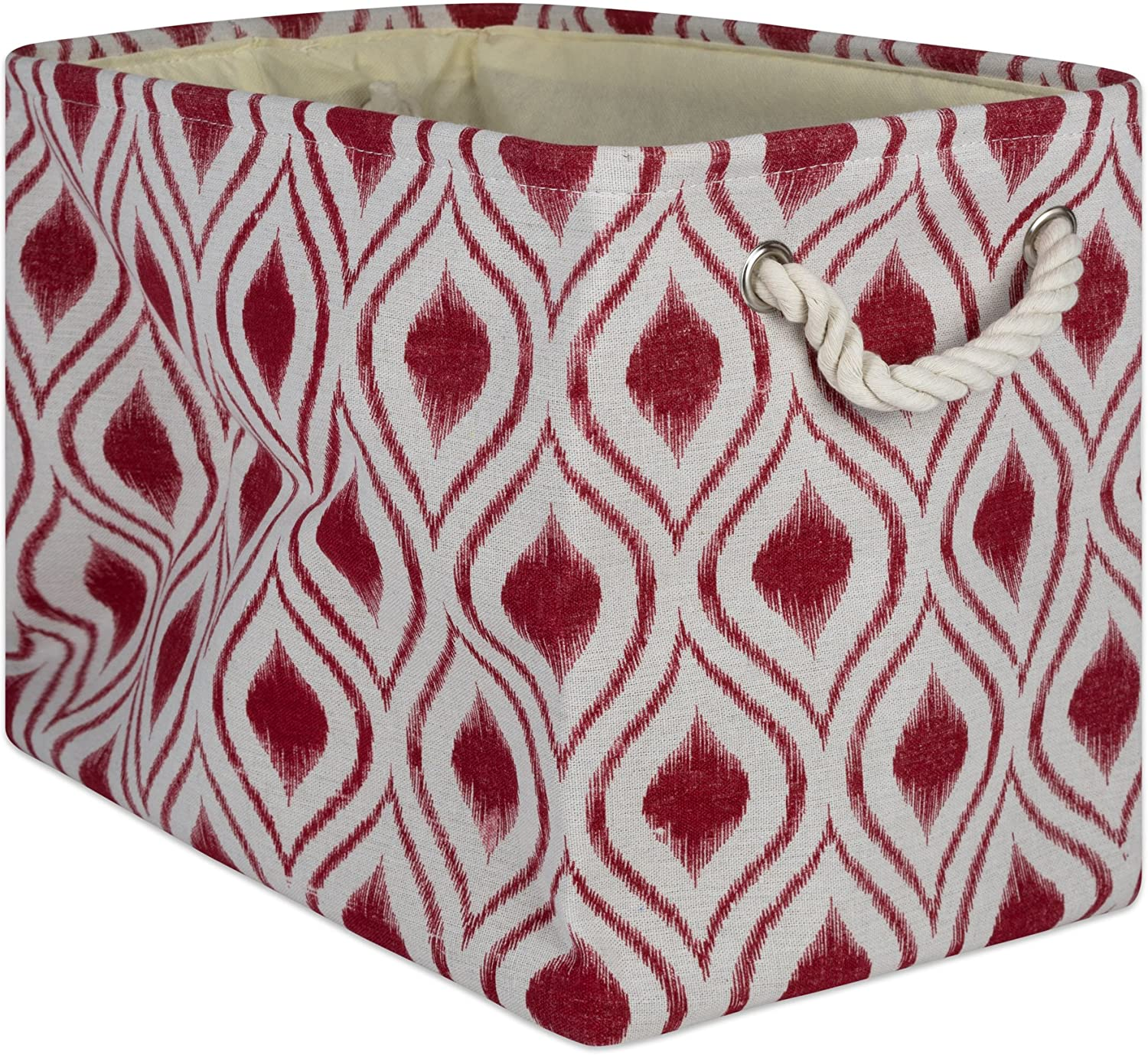 DII CAMZ10031 Collapsible Polyester Storage Basket or Bin with Durable Cotton Handles, Home Organizer Solution for Office, Bedroom, Closet, Toys, Laundry, Large, Barn Red