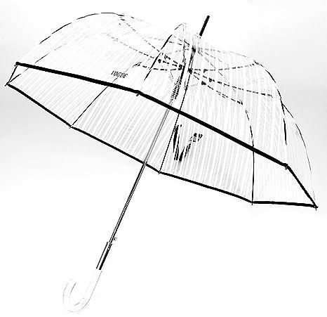 Elegante y exclusivo paraguas VOGUE® transparente mujer. Paraguas largo Tipo cúpula. Automático.