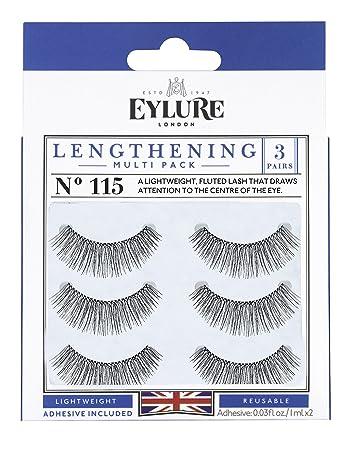 c38668a21db (Multi Pack- 3 Pairs) Eylure Lengthening #115 False Eyelashes, Black
