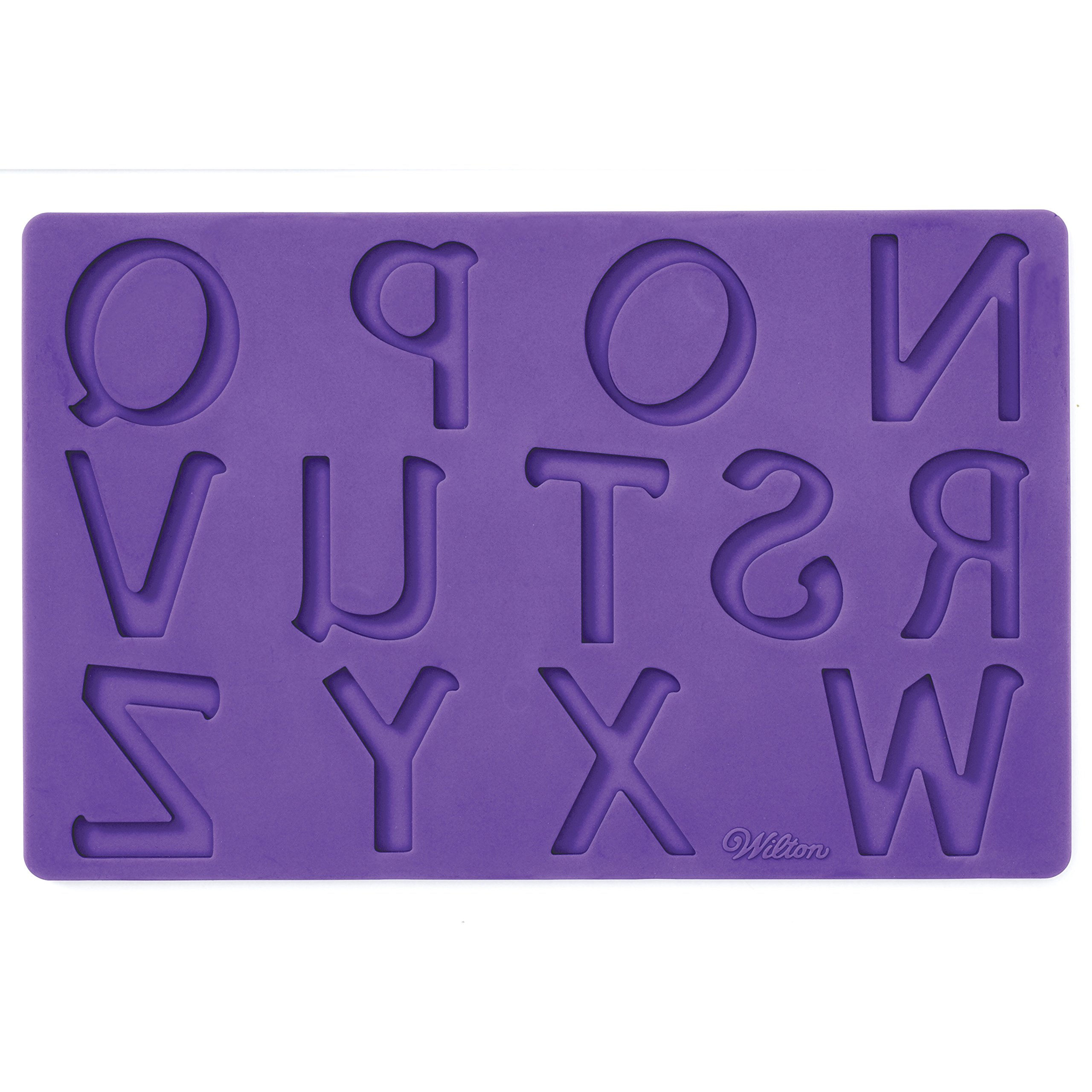 Wilton Silicone Letters and Numbers Fondant and Gum Paste Molds, 4-Piece - Cake Decorating Supplies by Wilton (Image #4)