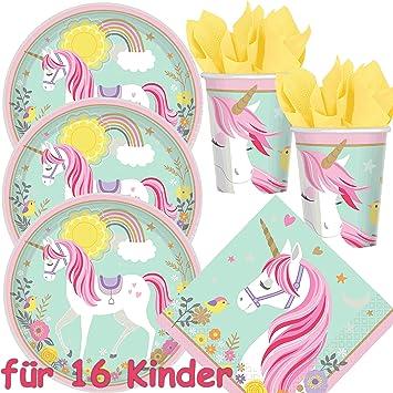 Amscan/Carpeta De 49 piezas Set de fiesta * Magical Unicorn ...