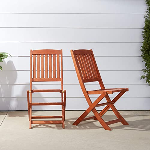VIFAH V04 Outdoor Wood Folding Chair, Set of 2