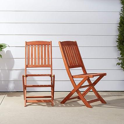 Vifah Patio Furniture.Vifah V04 Outdoor Wood Folding Chair Set Of 2