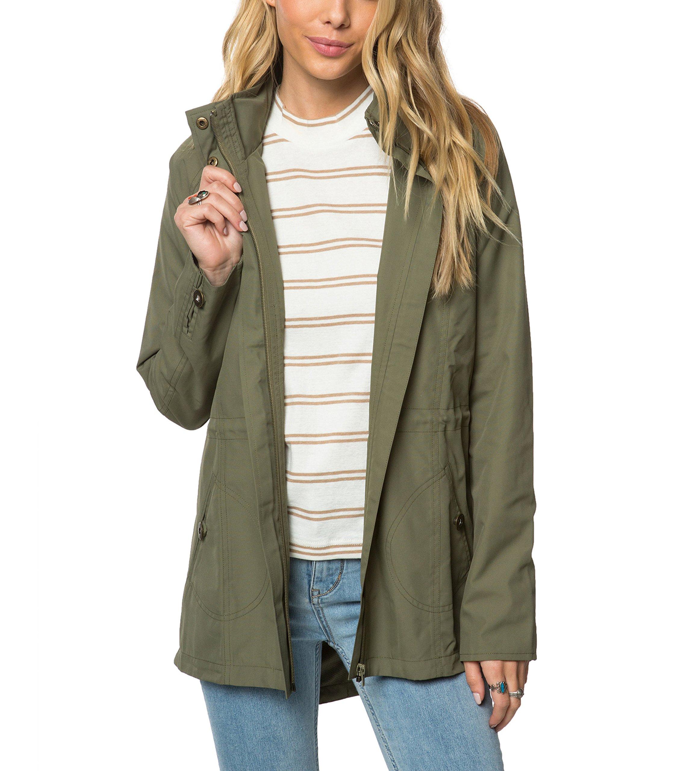 O'Neill Women's Wendy Water Proof Rain Jacket, Moss/Olive, S