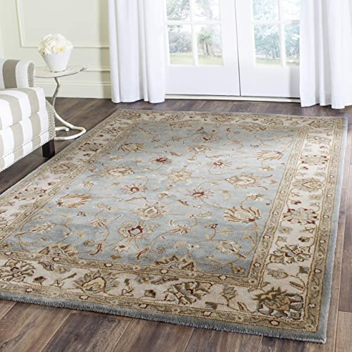 Safavieh Royalty Collection Blue and Beige Premium Wool Area Rug, 10 x 14 ,
