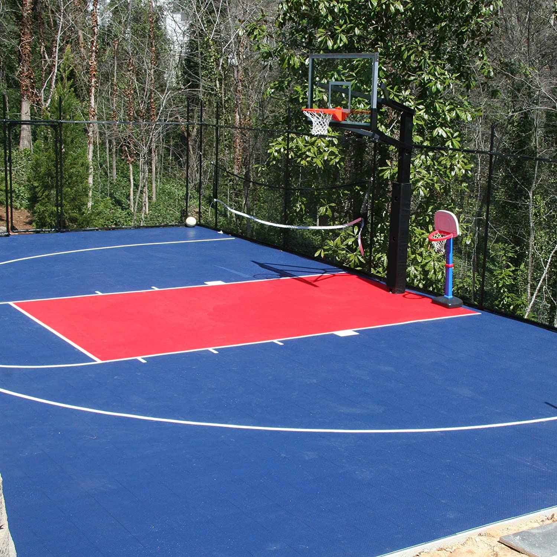 Amazon.com : IncStores Outdoor Sports Tile Basketball Court Flooring ...