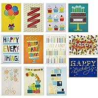 Hallmark Handmade Birthday Cards Assortment, Happy Cake Day (12 Cards with Envelopes)