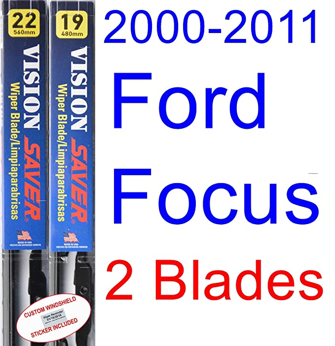 Amazon.com: 2000-2011 Ford Focus Wiper Blade (Passenger) (Saver Automotive Products-Vision Saver) (2001,2002,2003,2004,2005,2006,2007,2008,2009,2010): ...