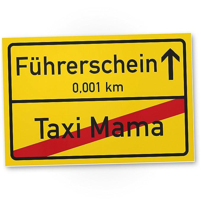 DankeDir!. carnet de Conducir Taxi Mama Cartel de plástico ...