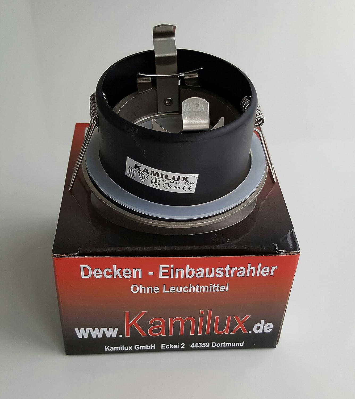 BAD /& DUSCHE Deckenstrahler in edelstahl geb LED 7W = 52Watt Aqua IP65 Badezimmer Einbaustrahler 230V GU10 7W Leuchtmittel = 52W POWER LED warmweiss