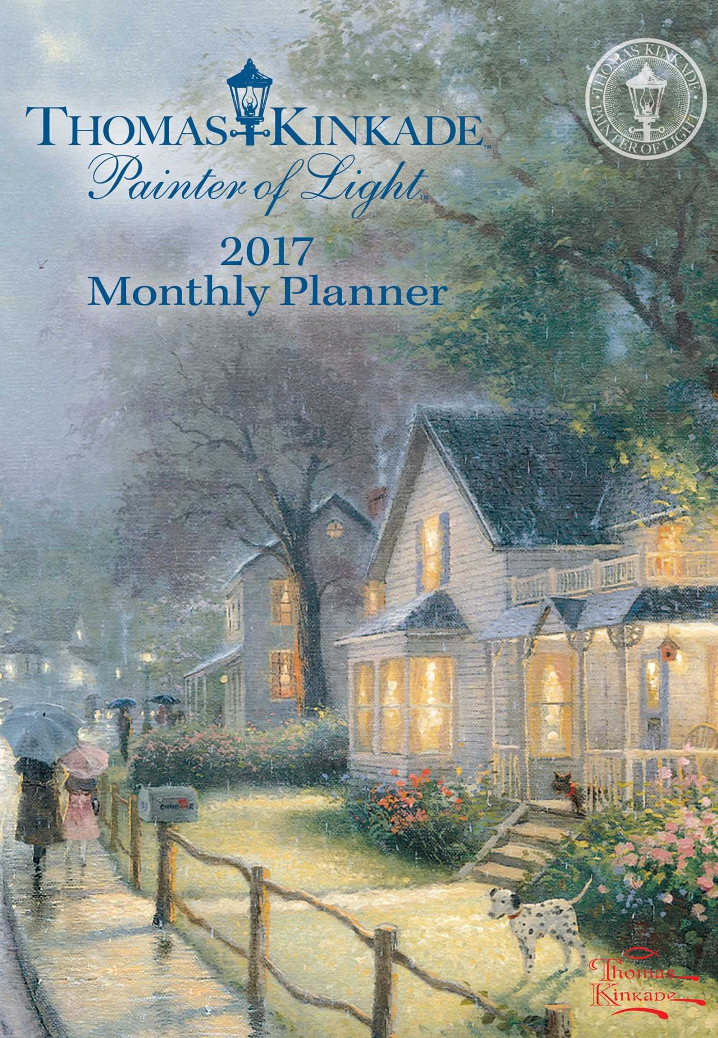 Kinkade Painter Monthly Planner Calendar