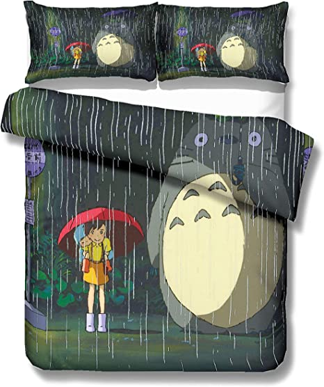 Copripiumino Totoro.Realin Set Biancheria Letto My Neighbor Totoro Copripiumino