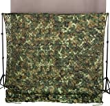 Ginsco 2mx3m Woodland Camouflage Netting Desert Camo Net for Camping Military Hunting Shooting Blind Watching Hide Party Decorations
