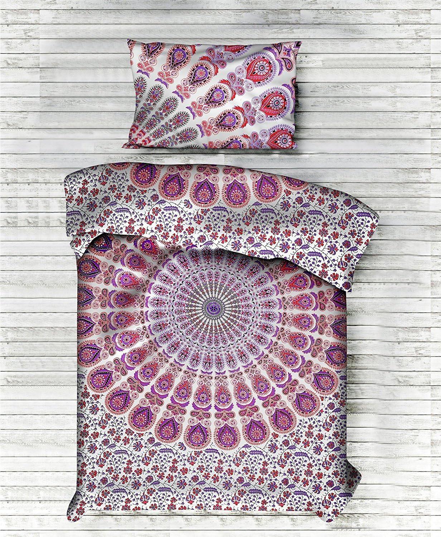 Indian Handmade Doona Quilt Cover Duvet Blanket Cover Bedding Set Boho Hippie
