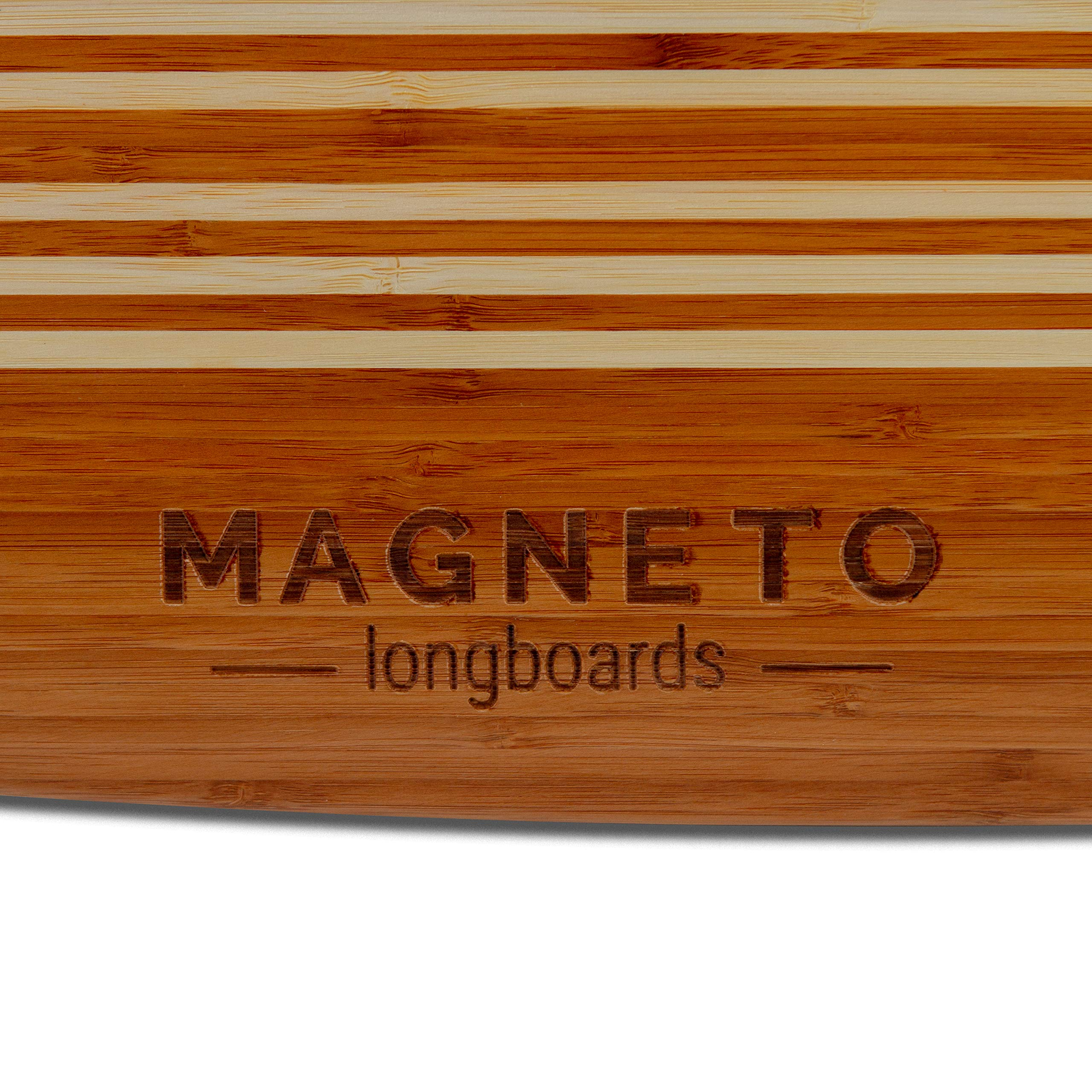 Hana Longboard Collection | 42 inch Longboard Skateboards | Bamboo with Hard Maple Core | Cruising, Carving, Dancing, Freestyle (Pintail) by Magneto (Image #3)