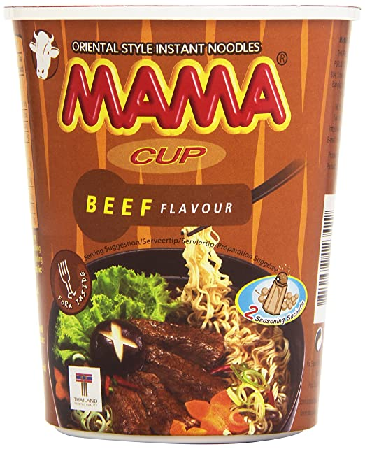 Mama Cup Beef Flavour Fideos Orientales Sabor a Ternera - 70 gr: Amazon.es: Amazon Pantry