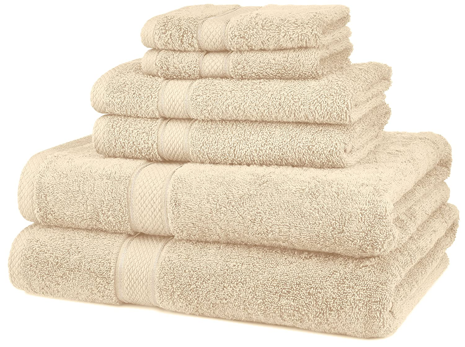 Pinzon Blended Egyptian Cotton 6-Piece Towel Set, Cream