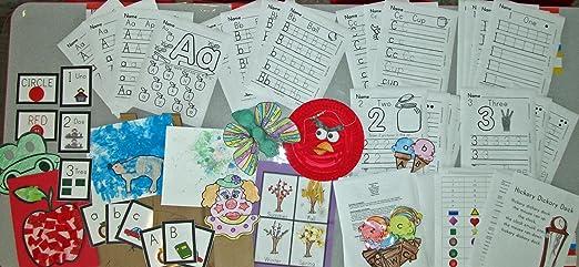 Amazon.com: Entire Month Preschool Curriculum! Month 1! Print ...