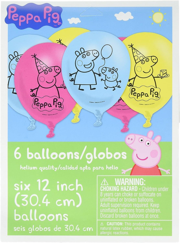 Amazon.com: Amscan - Globos de látex con diseño de Peppa Pig ...