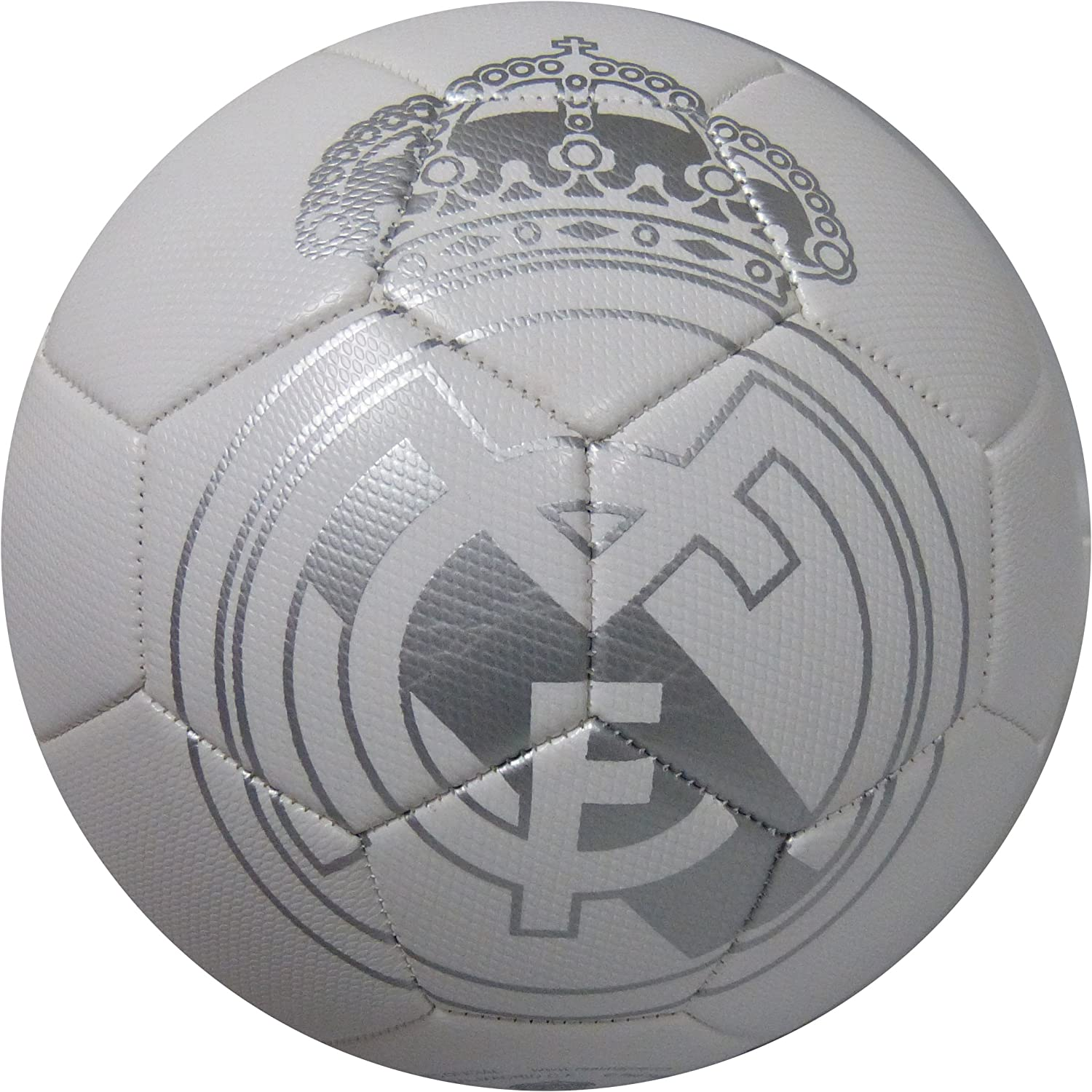 Balon Oficial REAL MADRID Talla Size 5 Blanco Plata: Amazon.es ...