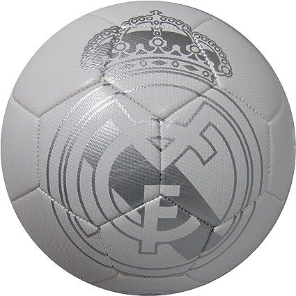 Balon Oficial REAL MADRID Talla Size 5 Blanco Plata: Amazon.es ...