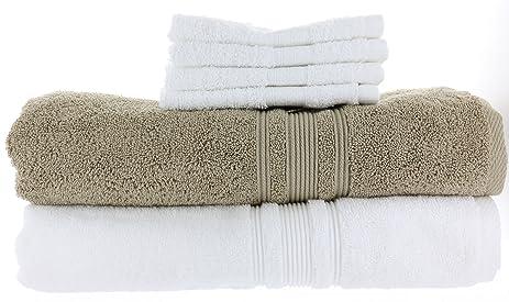 Charisma Bath Towels Gorgeous Amazon 60 Charisma Bath Towels 60in X 60in White Khaki Color