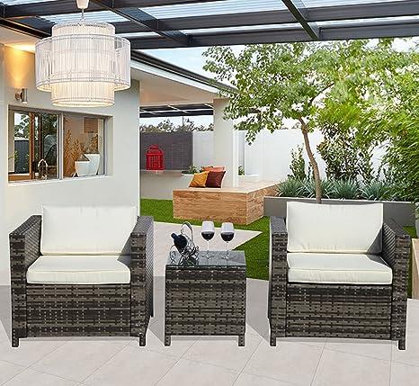 Juego de muebles al aire libre Patio conversación, 2 ...
