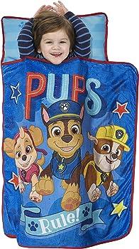 PAW Patrol Pre-School Roll Up Nap Mat Fleece Blanket Pillow Set