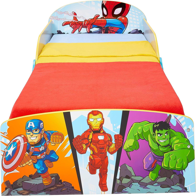 Worlds Apart Marvel Superhéroes-Cama Infantil para niños ...