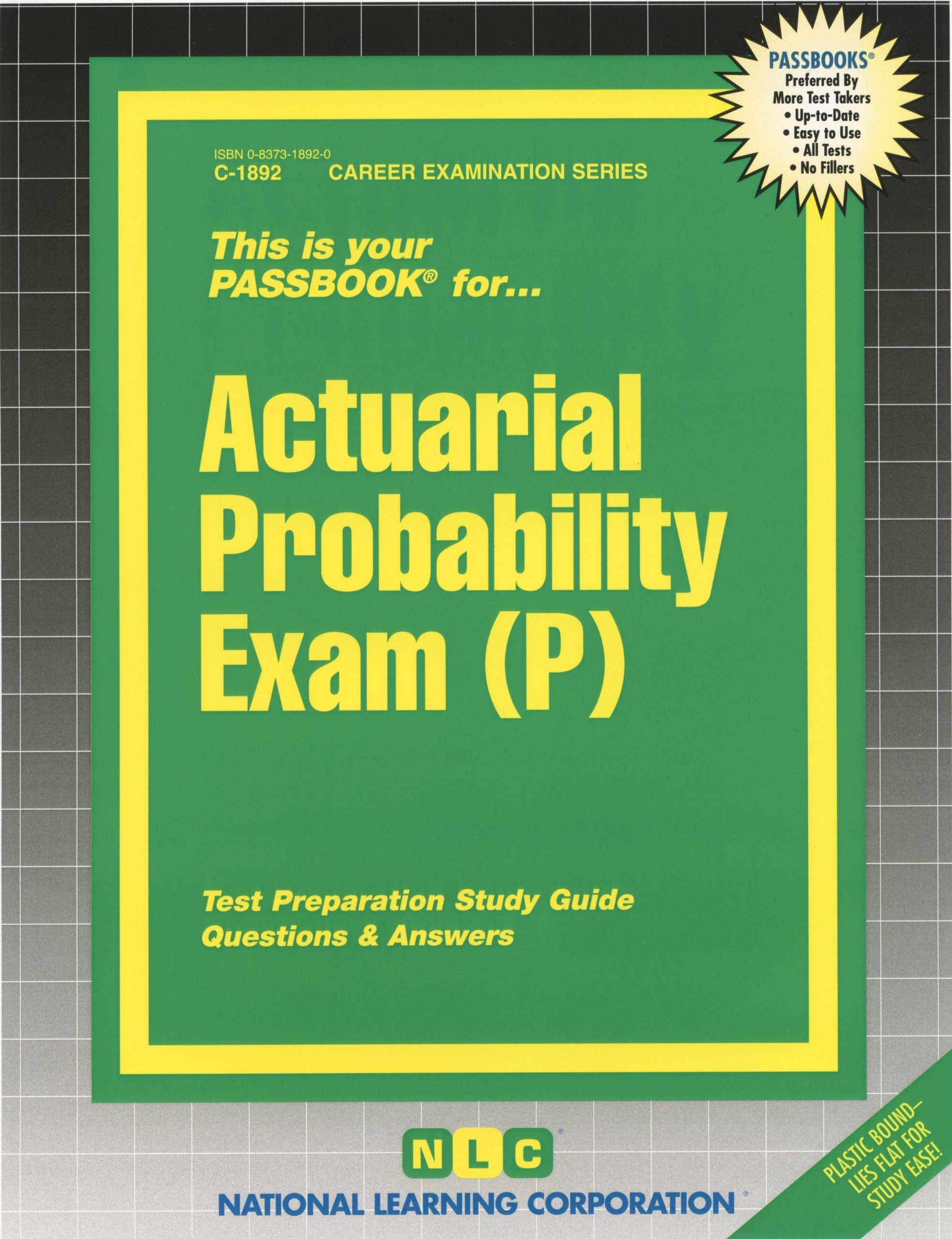 Soa exam c study guide array actuarial probability exam p passbooks passbooks 9780829318920 rh fandeluxe Image collections