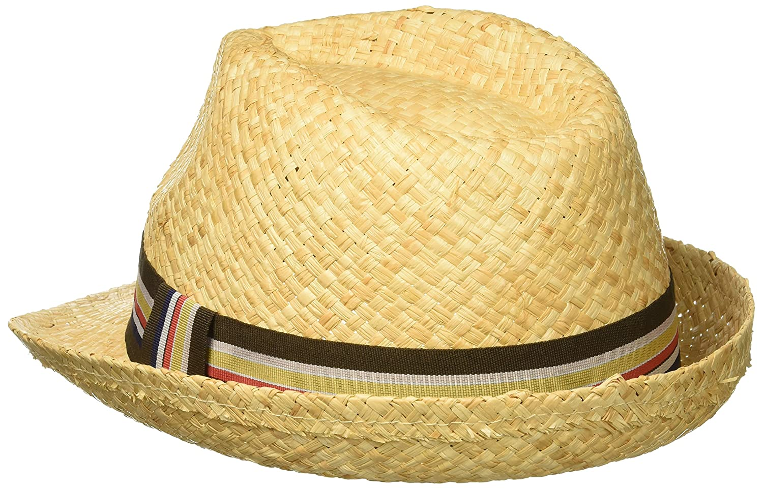 3d5103acd8f98 Henschel Men s Hand Woven Soft Raffia Straw Fedora with Striped Band at Amazon  Men s Clothing store